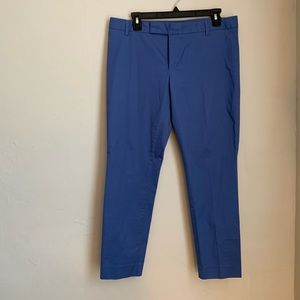 Blue Cropped Chinos